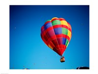 Rainbow Hot Air Balloon with other Hot Air Balloons Far Away - various sizes