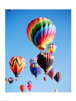 Cluster of Hot Air Balloons Fine Art Print