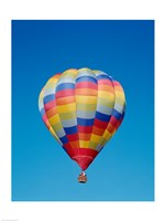Low angle view of a hot air balloon in the sky, Albuquerque, New Mexico, USA - various sizes