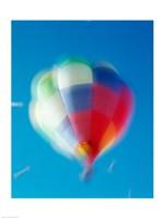 Blur view of a hot air balloon in the sky, Albuquerque, New Mexico, USA - various sizes