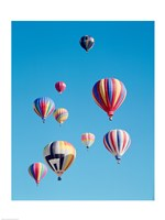 Group of Colorful Hot Air Balloons - various sizes