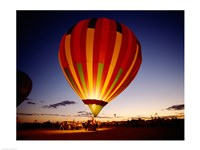 Low angle view of a hot air balloon taking off, Albuquerque, New Mexico, USA Framed Print
