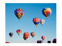 Hot Air Balloons in a Group Floating into the Sky - various sizes