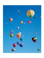 Hot Air Balloons Flying in a Group - various sizes