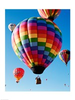 Gorgeous Rainbow Hot Air Balloon Fine Art Print