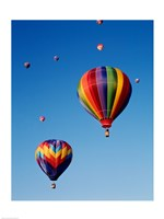 Hot Air Balloons Going Up, Up and Away - various sizes