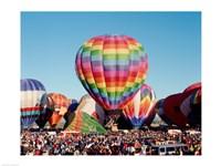 Hot air balloons at Albuquerque Balloon Fiesta, Albuquerque, New Mexico, USA - various sizes