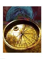 Close-up of an antique compass Fine Art Print