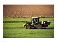 Tractor in a field, Newcastle, Ireland Fine Art Print