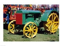 Old fashioned tractor at Farmers Market, San Juan Capistrano, California, USA - various sizes