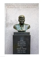 JFK Bust by Evangelos Frudakis at Kennedy Plaza, Boardwalk, Atlantic City, New Jersey, USA Fine Art Print