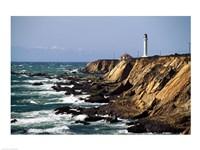 Lighthouse on the coast, Point Arena Lighthouse, Point Arena, California, USA Fine Art Print