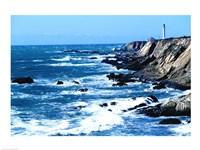 Lighthouse on the coast, Point Arena Lighthouse, Point Arena, California, USA - various sizes