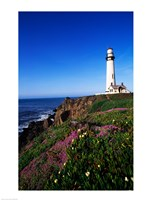 Lighthouse on the coast, Pigeon Point Lighthouse, Pigeon Point Light Station State Historic Park, California, USA - various sizes
