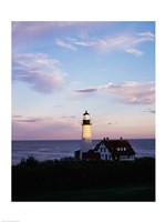 Portland Head Lighthouse Vertical Cape Elizabeth Maine USA Fine Art Print