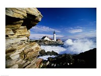 Portland Head Lighthouse, Cape Elizabeth, Maine, USA Framed Print