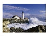 Portland Head Lighthouse Cape Elizabeth Maine  USA Framed Print