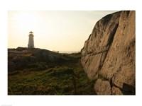 Lighthouse on the beach at dusk, Peggy's Cove Lighthouse, Peggy's Cove, Nova Scotia, Canada - various sizes