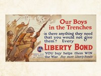 Our Boys in the Trenches Fine Art Print