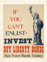 If you Can't Enlist, Invest Fine Art Print