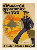 A Wonderful Opportunity for You United States Navy Fine Art Print