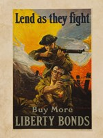 Lend as They Fight Buy More Liberty Bonds Fine Art Print