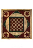 Small Antique Checkers Fine Art Print