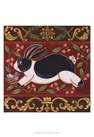 Folk Rabbit I Fine Art Print
