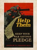 War Savings Pledge Fine Art Print