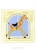 """Giraffe Carousel by June Erica Vess - 13"""" x 19"""""""