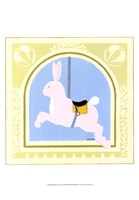 Rabbit Carousel Framed Print