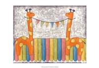 "Carnival Giraffes by Chariklia Zarris - 19"" x 13"""