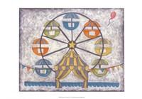 """Carnival Ferris Wheel by Chariklia Zarris - 19"""" x 13"""""""