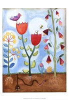 "Whimsical Flower Garden I by Megan Meagher - 13"" x 19"""