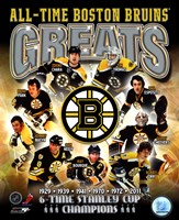 "Boston Bruins All-Time Greats Composite - 8"" x 10"" - $12.99"