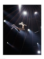 The Flying Redpaths Royal Hanneford Circus act Fine Art Print