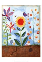 Whimsical Flower Garden II Fine Art Print
