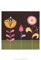 """Patchwork Garden III by June Erica Vess - 13"""" x 19"""""""