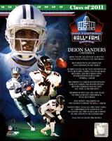 Deion Sanders 2011 Hall of Fame Composite Framed Print