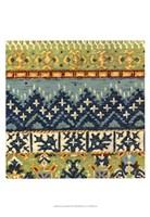 Eastern Textile III Framed Print