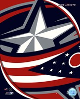 Columbus Blue Jackets 2011 Team Logo Framed Print