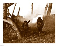 Two American Soldiers Storming a Bunker Fine Art Print
