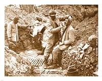 Barber in the Trench Fine Art Print
