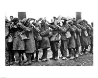 British 55th Division Gas Casualties April 10,1918 Fine Art Print