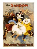 The Sandow Trocadero Vaudevilles, Performing Arts Poster, 1894 Fine Art Print
