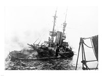 HMS Irresistible Abandoned March 18,1915 Fine Art Print