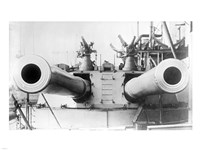 HMS Dreadnought Guns LOCBain Fine Art Print