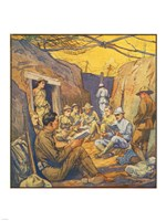 Studying French in the Trenches Fine Art Print