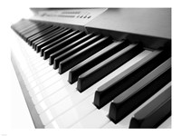 Yamaha P120 close-up of Piano Keys Fine Art Print
