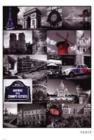 """Paris (Collage) - 24"""" x 36"""""""